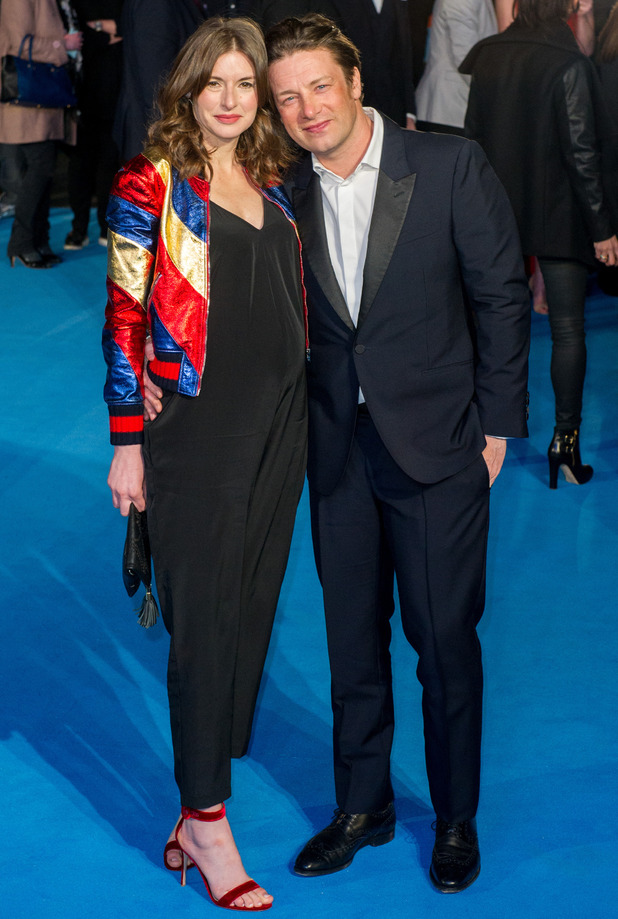 Jamie Oliver and Jools Oliver at the European Premiere of 'Eddie The Eagle'