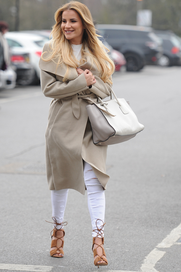 TOWIE star Georgia Kousoulou seen out and about in Essex as the cast film next series, 15th March 2016
