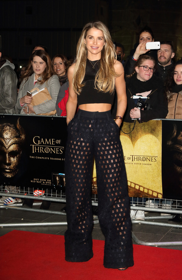 Model Vogue Williams attends Game of Thrones: Hardhome screening in London, 14th March 2016