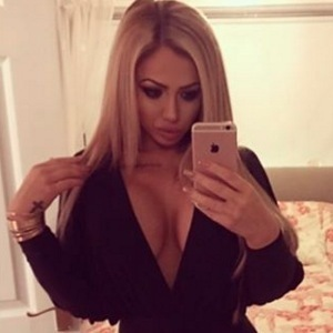 Holly Hagan selfie on New Year's Eve 31 December 2015