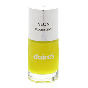 Claire's nail polish in Neon Yellow £3, 23rd March 2016