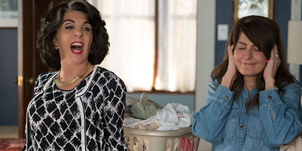 My Big Fat Greek Wedding 2 film still: Aunt Voula (Andrea Martin) and Toula (Nia Vardalos)