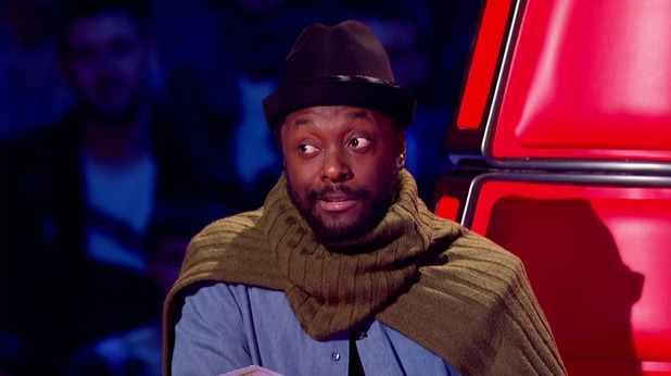 Will.i.am giving his feedback in the second of the knockouts of 'The Voice UK'. 20 March 2016.