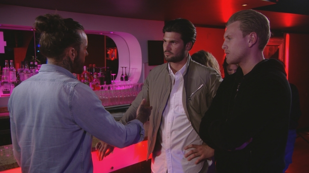 TOWIE - Dan, Pete and Tommy clash. 23 March 2016.