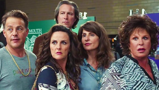 My Big Fat Greek Wedding 2 film still: Toula (Nia Vardalos), Ian (John Corbett) and family