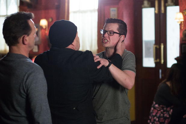 EastEnders, Ben and Phil come to blows, Fri 25 Mar