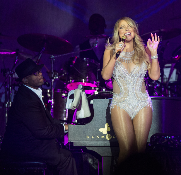 Mariah Carey performs on stage at The O2 Arena on March 23, 2016 in London, England.