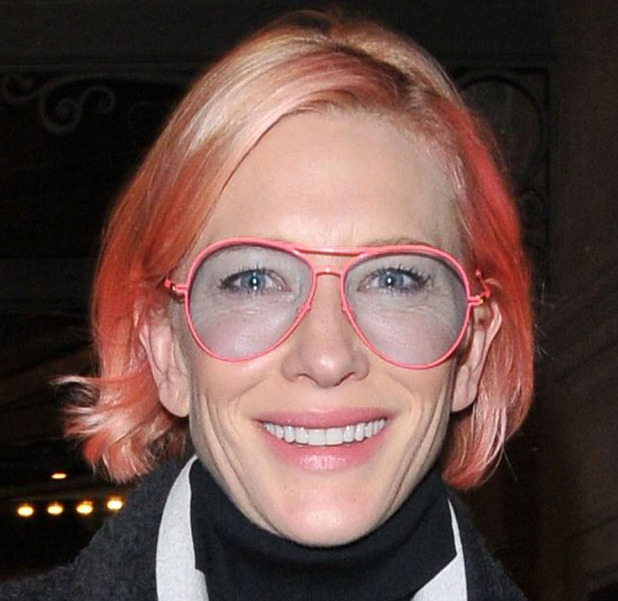 Cate Blanchett shows off her pink hair out and about in London, 23rd March 2016