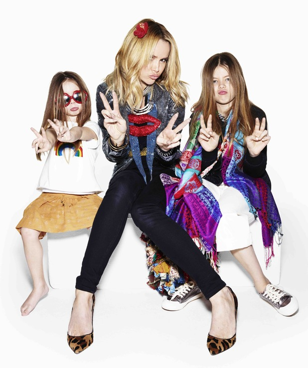 Amanda Holden gets dressed up by her daughters for Oxfam 24 March