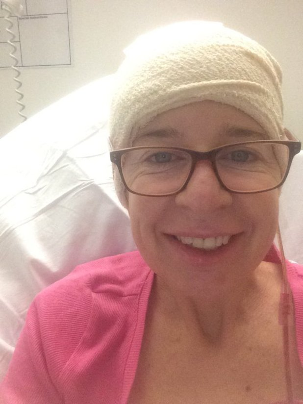 Katie Hopkins posts bed selfie after brain surgery. 19 March 2016.