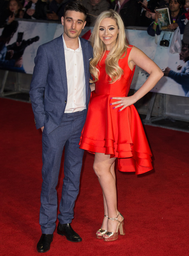Tom Parker and Kelsey Hardwick - The European Premiere of 'Batman V Superman: Dawn of Justice' held at the Odeon and Empire Leicester Square 22 March
