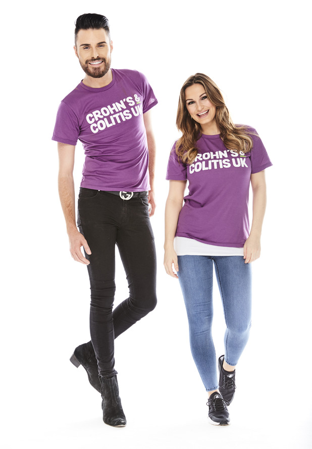 Rylan Clark and Sam Faiers supporting the launch of WALK IT for Crohn's & Colitis UK. 22 March 2016.
