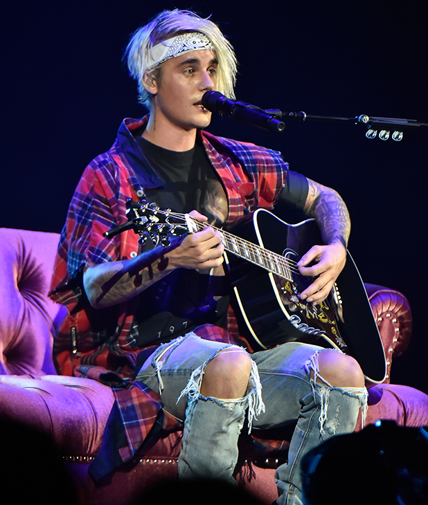 Justin Bieber performs at the 2016 Purpose World Tour at Staples Center on March 20, 2016 in Los Angeles, California. (Photo by Jeff Kravitz/FilmMagic)