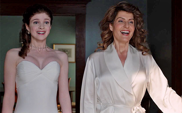 My Big Fat Greek Wedding 2 film still: Paris (Elena Kampouris) and Toula (Nia Vardalos)