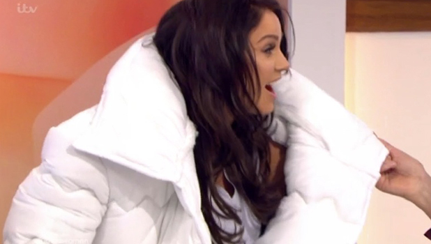 Vicky Pattison tries on duvet suit on Loose Women 22 March 2016