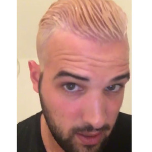 TOWIE star Ricky Rayment tries to dye his hair silver once again, fails and goes platinum blonde 31st March 2016