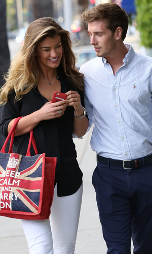 Amy Willerton hints she is engaged to boyfriend Daniel Day, LA 30 March