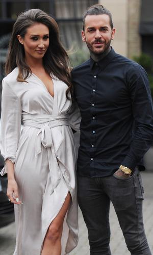 Megan McKenna and Pete Wicks filming for TOWIE, Brickyard restaurant Essex 23 March