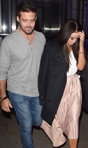 Spencer Matthews and Vicky Pattison, Duck and Waffle London 30 March