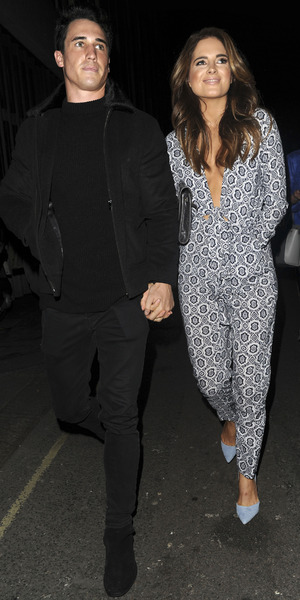 Josh JP Patterson and Binky Felstead, In The Style party, London 31 March