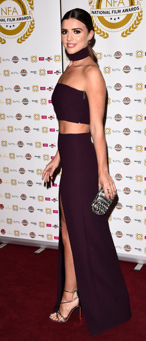 Former TOWIE star Lucy Mecklenburgh attends the National Film Awards, Porchester Hotel, London, 1st April 2016