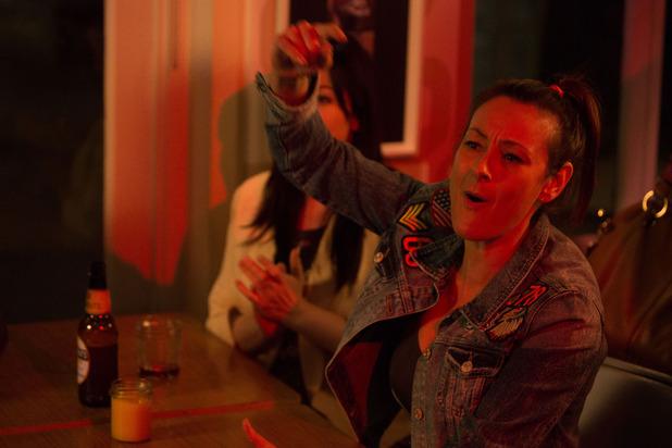 EastEnders, Tina rowdy at Bex's gig, Fri 1 Apr