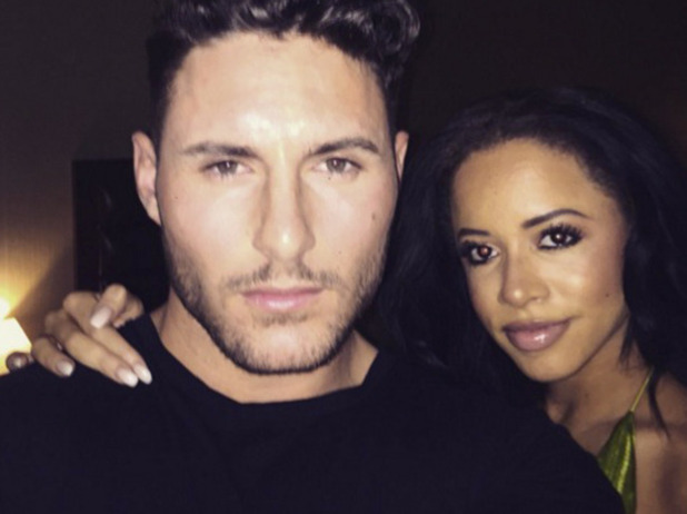 Ex On The Beach's Olivia Walsh and James Moore on a PA together, March 2016