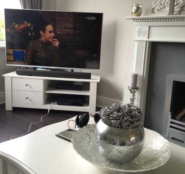 Stephanie Davis watches old CBB episodes, 29 March 2016