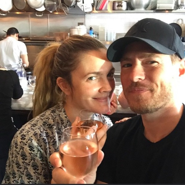 Drew Barrymore and husband Will Kopelman pose in loved-up selfie, 2015.