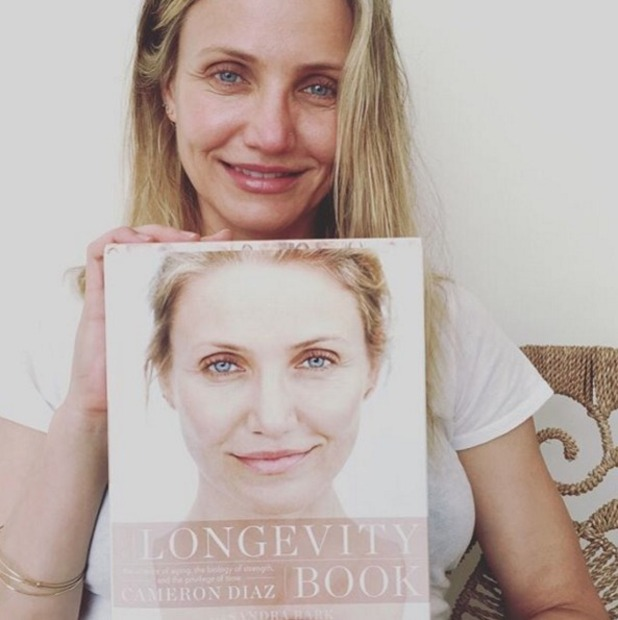 Cameron Diaz wears no make-up to promote her pro-ageing book, 'Longevity Book,' 30 March 2016
