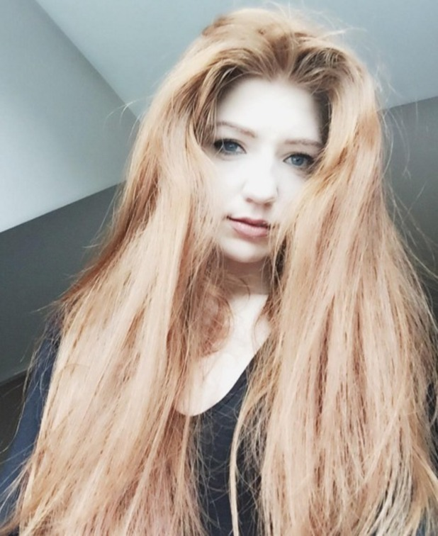 Nicola Roberts shows off her super-long hair that she's been growing for over two years, 21 March 2016