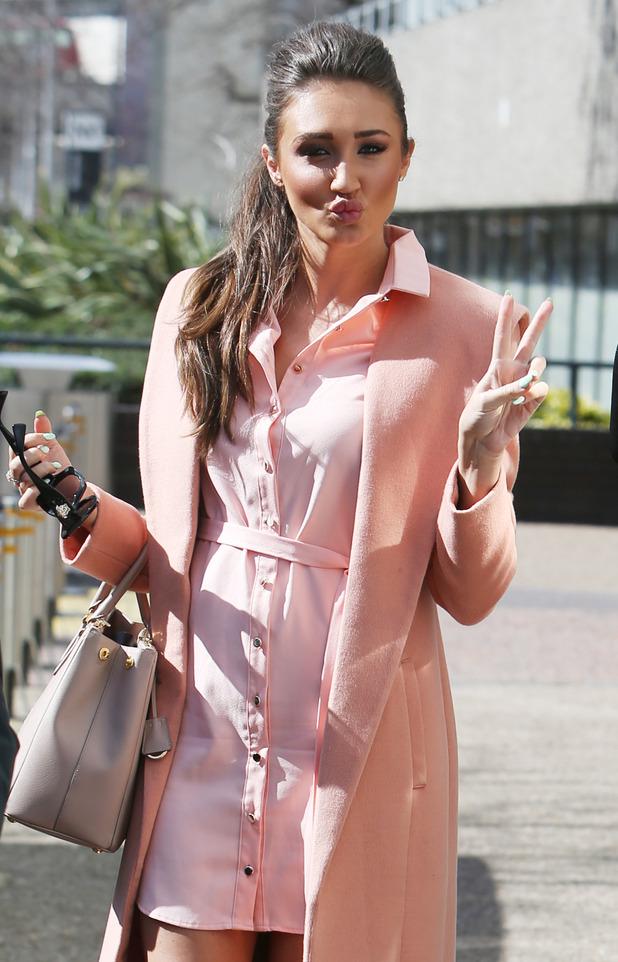 Megan McKenna outside ITV Studios 29 March 2016