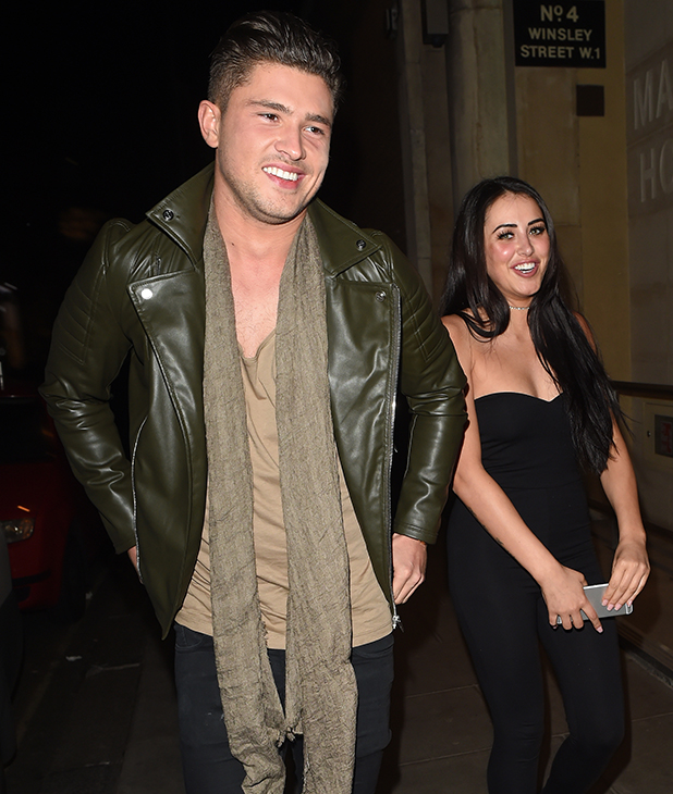 Jordan Davies and Marnie Simpson In The Style Party at Libertine, Winsley Street, London 21 March 2016