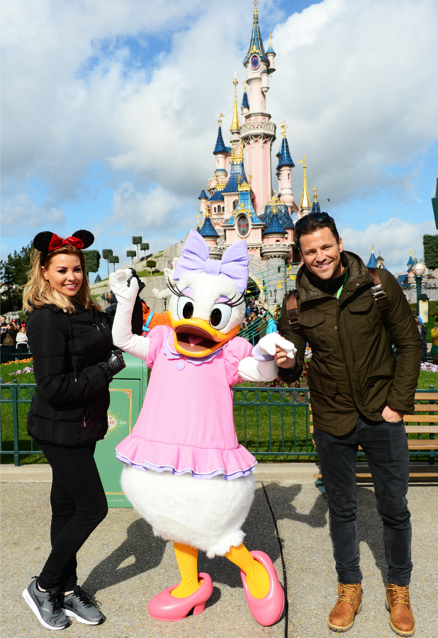 Mark & Jessica Wright during a magical day trip to Disneyland with British Airways 29 March 2016