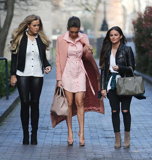 Megan McKenna, Chloe Meadows and Courtney Green outside ITV Studios 29 March 2016
