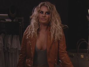 TOWIE: Danni in her clothing boutique. 10 April 2016.
