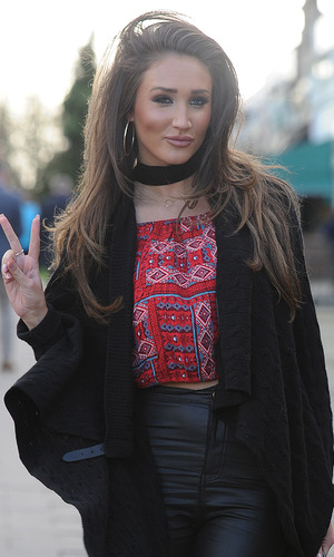 Ex On The Beach's Megan McKenna out and about in Chingford, London, 7th March 2016