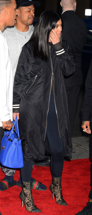 Kylie Jenner attends Barbershop: The Next Cut film premiere in Los Angeles, 6th March 2016