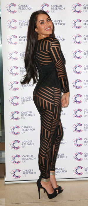 Geordie Shore star Marnie Simpson wears see-through ensemble to James Ingham's Jog On To Cancer event in Lon don, 7th April 2016