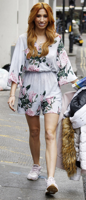 Stacey Solomon spotted leaving Whiteleys in London after appearing on The Wright Stuff, 7th March 2016