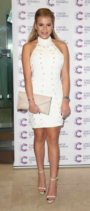 The Only Way Is Essex's Georgia Kousoulou attends James Ingham's Jog On To Cancer event in London, 7th April 2016