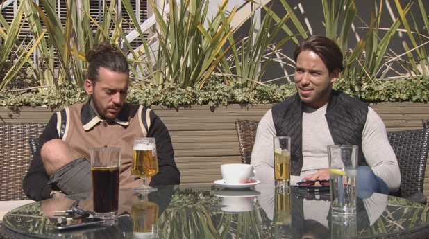 TOWIE: Lockie speaks to Pete about Danni. 10 April 2016.