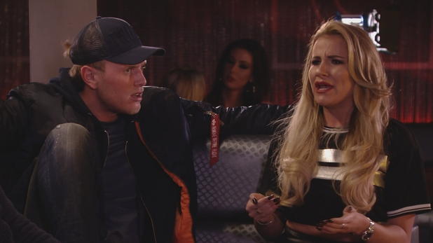 TOWIE Georgia and Tommy clash. 10 April 2016.