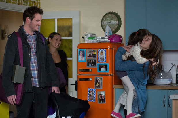 Stacey's finally home from the mother and baby unit, and no one is more pleased to see her than little Lily. EastEnders, 8 April 2016