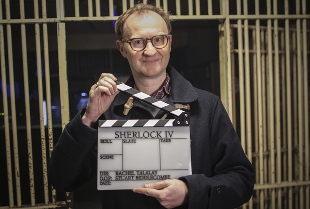 Sherlock series four - filming begins. Co-creator Mark Gatiss. 6 April 2016.