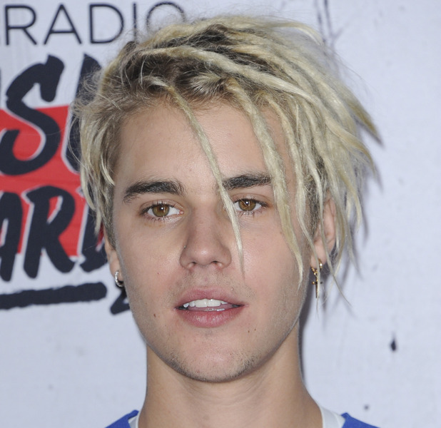 Justin Bieber sports dreadlocks to the iHeartRadio Awards in Los Angeles, 3rd April 2016