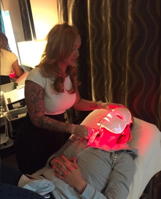 Katie Price gets unusual L-E-D Facial like Kourtney Kardashian at Mac Aesthetics Clinic, 7th March 2016
