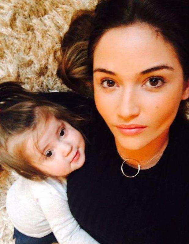 Jacqueline Jossa posts photo with mini me daughter Ella. 5 April 2016.