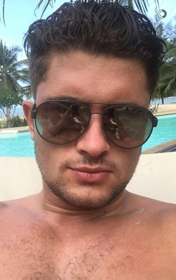 Jordan Davies on holiday. 5 April 2016.