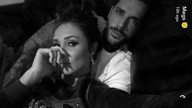 Megan McKenna and Pete Wicks on Snapchat 6 April 2016